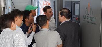 Technologie von Burkhardt weckt Interesse in Vietnam