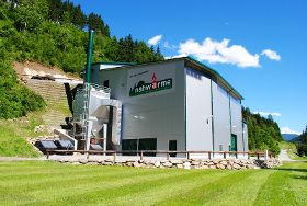The district heating station Murau-Stolzalpe with the prospective CHP plants from Burkhardt