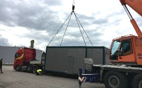 First Burkhardt container system unit delivered